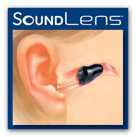 Zeigt, wie tief SoundLense im Gehörgang verschwindet.